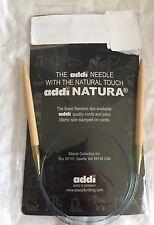 """Addi Natura 20"""" US 9 Bamboo Circular Knitting Needles Skacel Made In Germany New"""