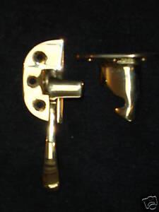Ice Box Latch Cast Brass Polished Left Hand