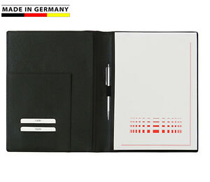 Handmade-in-Germany-Schreibmappe-A4-Leder-5-Farben-excl-Marke-EuroStyle