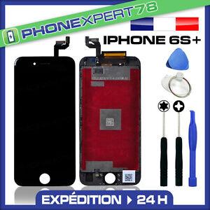 VITRE-TACTILE-ECRAN-LCD-RETINA-SUR-CHASSIS-POUR-IPHONE-6S-PLUS-NOIR-OUTILS