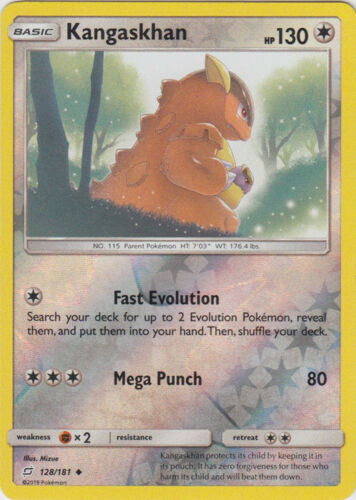 Uncommon Reverse Holo Pokemon SM9 Team Up M//NM Engli x4 Kangaskhan 128//181