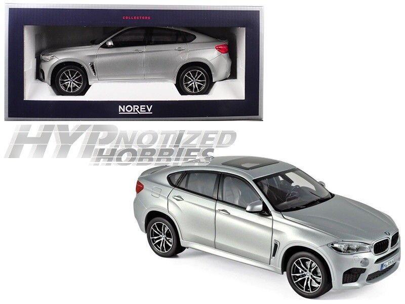 Norev 1 18 2016 BMW X6 M Moulé Argent 183200