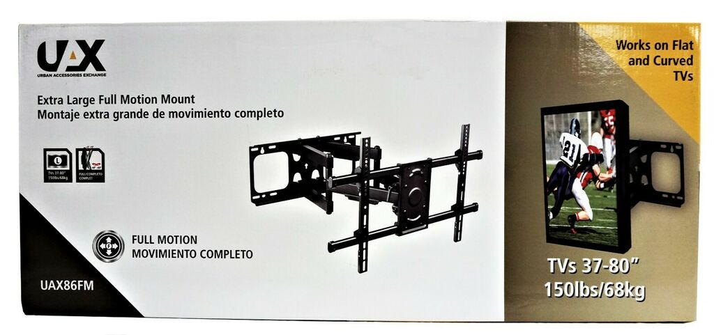 UAX 37 in - 86 in Extra Large Full Motion TV Mount   Ebay
