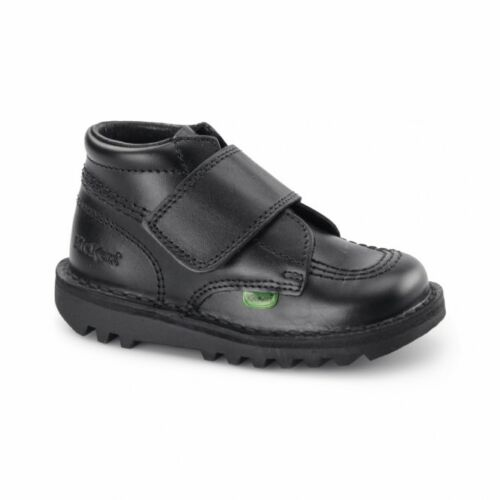 Kickers Kick Kilo I Core Infants Black Velcro Ankle Boots School Shoes Toddlers
