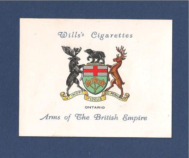 ONTARIO Canadian province COAT of ARMS 1933 original print