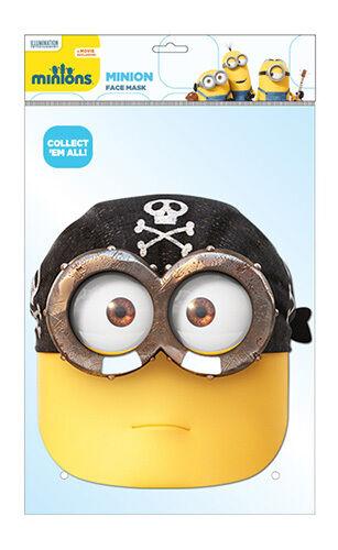 Eye Matie Pirate Minion 2D Card Party Face Mask Fancy Dress Up
