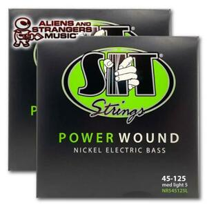 2 Sets! SIT Strings Power Wound NR50105L Medium Bass Strings .050-.105