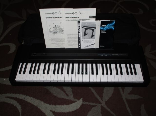 roland ep 90 digital piano sounds magnificent some issues no ac adapter for sale online ebay. Black Bedroom Furniture Sets. Home Design Ideas