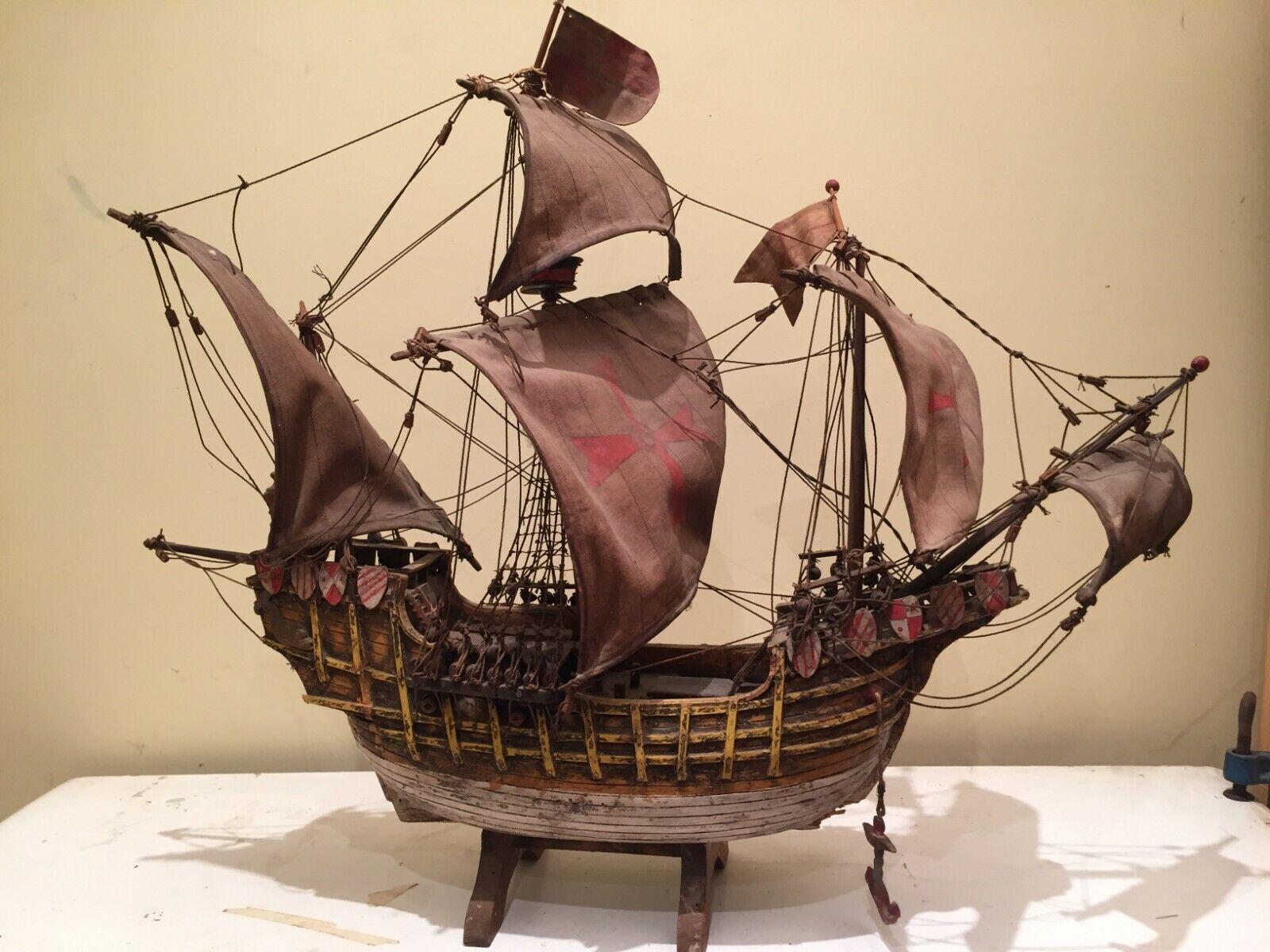 Modellismo navale in legno riproduzione riproduzione Santa Maria fine 19 secolo