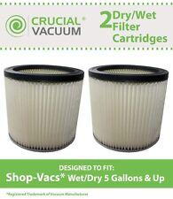 2 ShopVac Shop Vac Dry/Wet Cartridge Filters Part # 90304