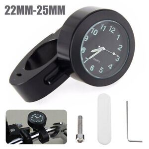 Waterproof-7-8-039-039-1-034-Motorcycle-Handlebar-Mount-Dial-Glow-In-Dark-Clock-Watch