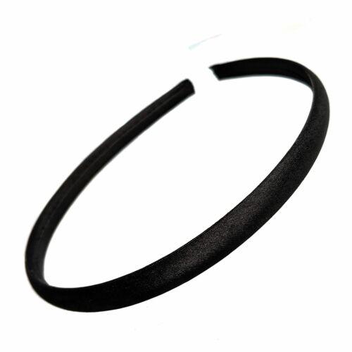 1cm Black Satin Alice Hair Band Headband Girls School