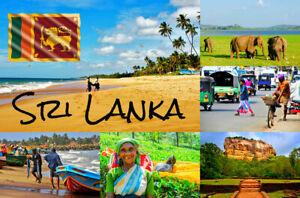 Sri-Lanka-Sud-Asie-Souvenir-Nouveaute-Refrigerateur-Aimant-Flag-Sites