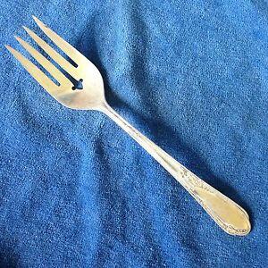 Wm-A-Rogers-Meat-Fork-Meadowbrook-Heather-Silverplate-Oneida-Ltd-A1-Plus-8-034