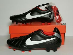 reputable site 93dbf ffcb2 Details about NIKE MEN'S TIEMPO LEGEND IV FG CLEATS SZ 7.5 NEW/BOX  BLACK/WHITE/RED 454316 016