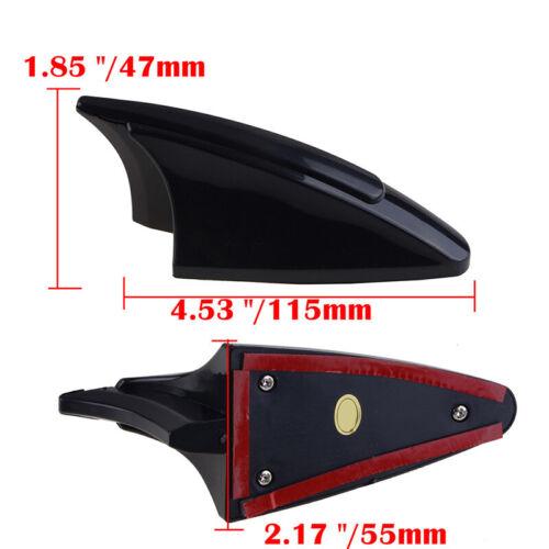 Black Vehcile Car Shark Fin Style Decorative Top Roof Antenna Dummy Aerial