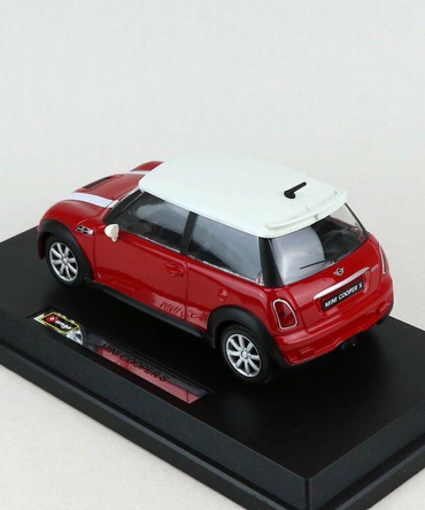New Burago 1 24 Mini Mini Mini Cooper S Red Diecast from Japan e4a66d