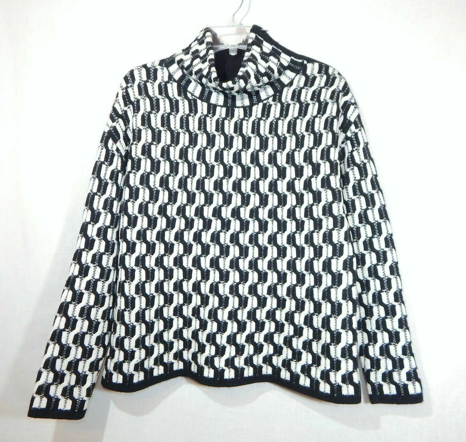 100% Cashmere NORDSTROM COLLECTION Black White Do… - image 8