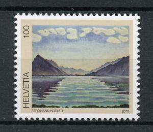 Suisse-2018-neuf-sans-charniere-FERDINAND-HODLER-Lac-de-Thoune-1-V-Set-Art-peintures-timbres