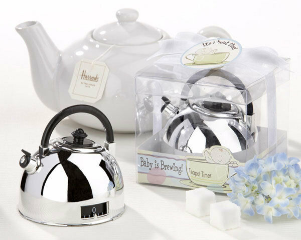 Shower Favor It's About About About Time Baby is Brewing Teapot Timer 30, 60, 96 5a2b76