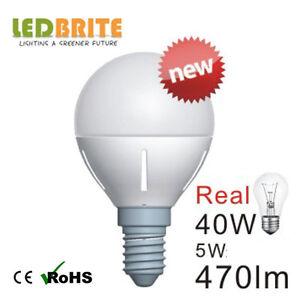 5Watt-E14-Edison-Screw-Golf-Ball-DIMMABLE-Warm-White-LED-Light-Bulb-pack-of-10