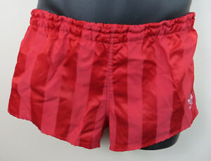 Shiny Shorts Xs Retro Running Nylon Red Vintage Adidas Vtg 80s Mens EwvqSEx0