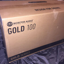 BRANDNEWSEALED Monitor Audio GOLD 100 Speakers (PAIR) (PIANO BLACK LACQUER)
