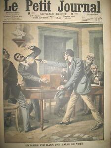 CHARENTE-UN-MAIRE-TUe-SALLE-DE-VOTE-EMEUTIERS-A-CHAMBON-F-LE-PETIT-JOURNAL-1910