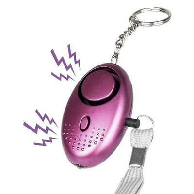 140db Loudest Personal Anti Panic Rape Attack Safety Keyring Alarm Torch Light