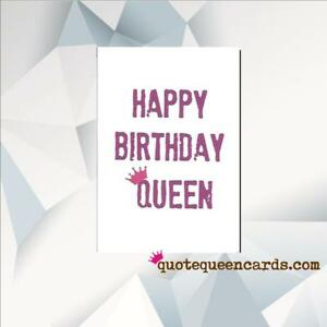 Image Is Loading HAPPY BIRTHDAY QUEEN DRAG RUPAUL Greeting Cards