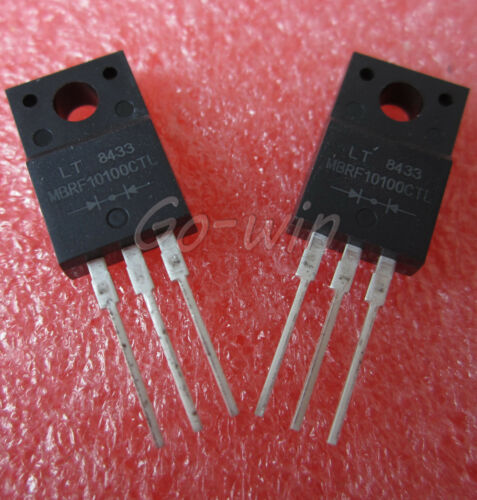 2PCS MBRF10100CTL MBRF10100 LITEON DIODE SCHOTTKY TO-220 NEW IC