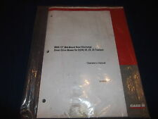 """CASE MWX 72"""" MOWER FOR D(DX) 25 29 33 TRACTOR OPERATION MAINTENANCE BOOK MANUAL"""