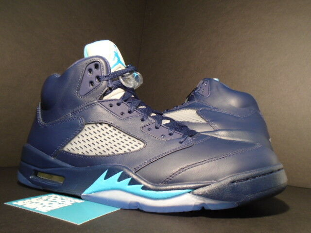 3b0745c5c0c10b cheap nike air jordan retro 5 hornets midnight navy blue size 13 13 ebay  5d36f 4365c