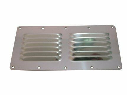 AISI 316 Marine Grade Stainless Steel Boat Caravan Louvered Vent 232mm X 115mm