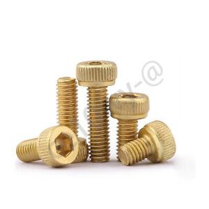 Brass Socket Cap Screws Hex Head Allen Bolts M2 M2.5 M3