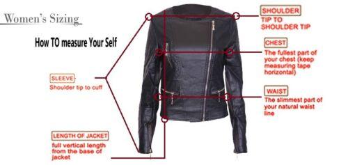 Women's Slim Real Wns Jacket Original Leather Hot Fit Motorcykel Lambskin Biker SfqBxndPwY