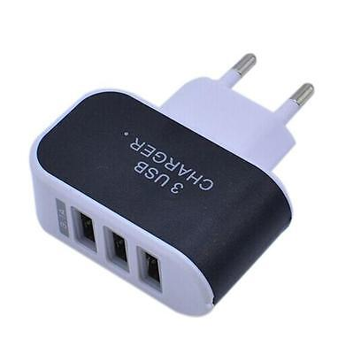 3.1A 3 USB Port Wall Home Travel AC Charger Adapter EU Plug USB Charger Plug