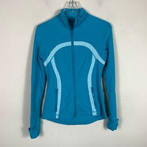 Lululemon-Athletica-Scuba-Track-Jacket-Womens-Size-6-Full-Zip-Yoga-Blue