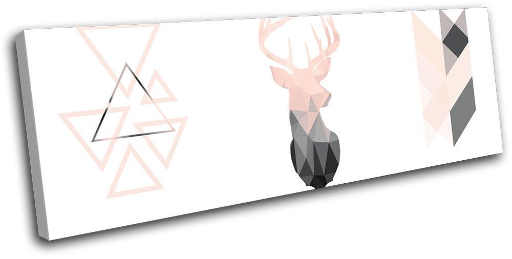 Deer Stag Geometric Modern Animals SINGLE TOILE murale ART Photo Print