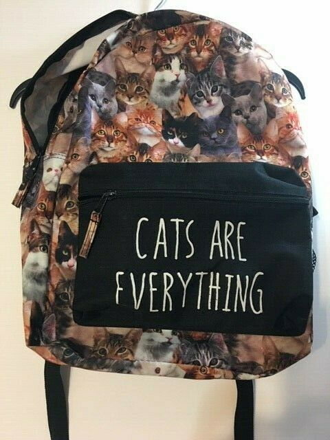 CATS ARE EVERYTHING Backpack School Laptop Bag Ca… - image 2