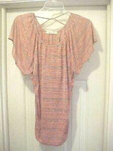 07df353b93f62 Women's Striped Short Sleeve Blouse Size M Robin's Nest Maternity ...