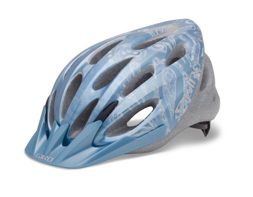 Giro Women's Skyla Cycling Helmet (Ice bluee White Flower Sketch)