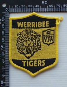RARE VINTAGE VFA WERRIBEE TIGERS EMBROIDERED WOVEN CLOTH PATCH VFL SEW-ON BADGE