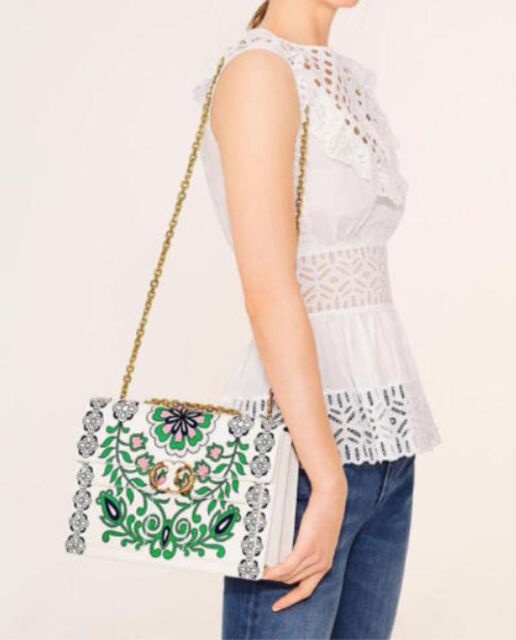 09213c994ff Tory Burch Large Gemini Link Garden Party Chain Shoulder Bag ...