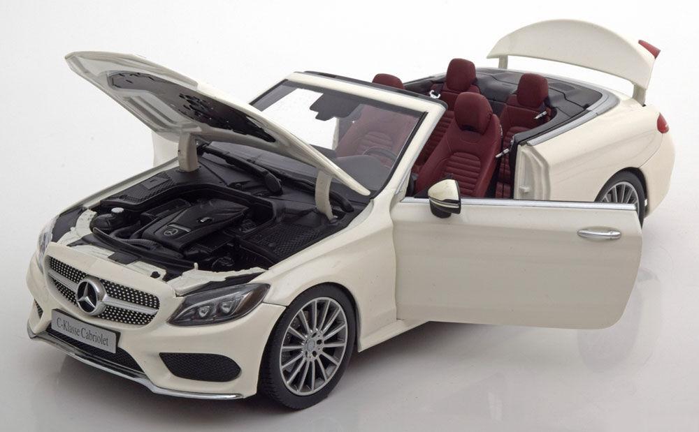 Iscale 2016 Mercedes Benz C Klasse A205 Convertible Blanc Marchand Édition 1 18