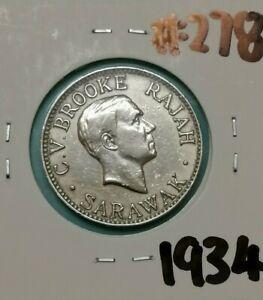 10 Cent Sarawak Coin 1934 (EF) #278