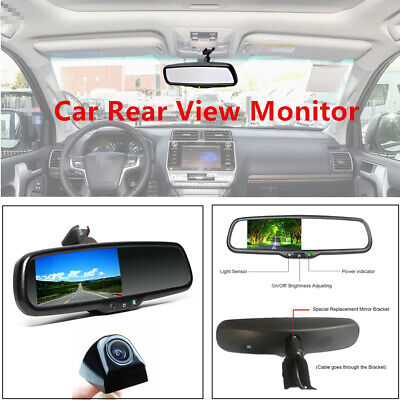 """Cheap Sale Digital 4.3""""auto Dimming Rear View Monitor & Rear Camera Backup Parking Reverse Lovely Luster"""