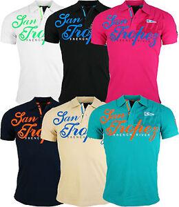 Herren-Poloshirt-Slim-Fit-Hemd-Kurzarm-T-Shirt-Schwarz-Weiss-Gruen-Rot-Beige-NEU