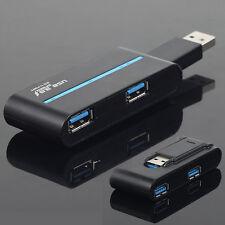 Noir Tendance Portable Haut Débit 4 Ports USB 3.0External Hub Adaptateur Nouveau