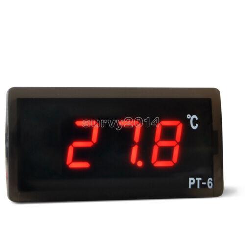 50 ℃ ~ 110 ℃ Thermomètre Numérique Température Mètre Aquarium PT-6 220 V Capteur
